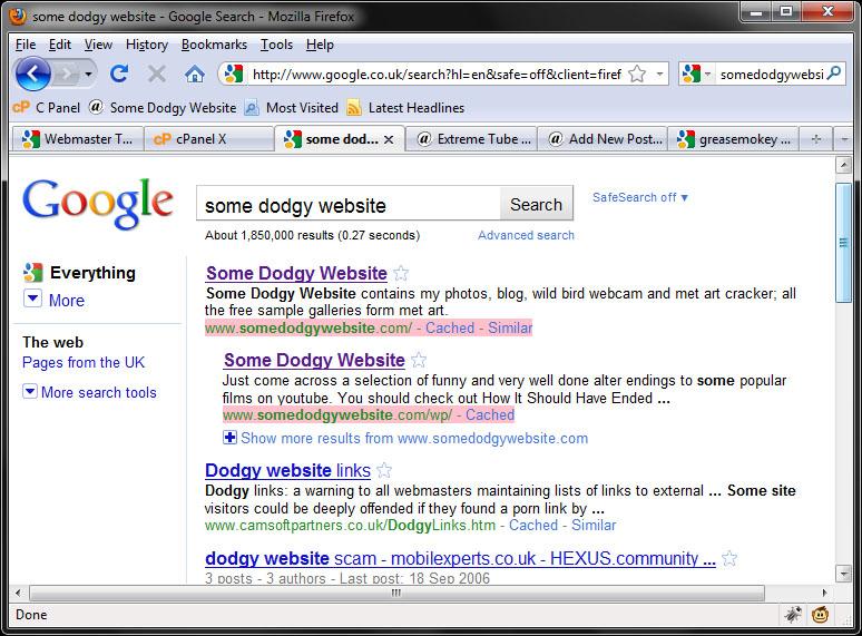Greasemonkey Google Highlighter